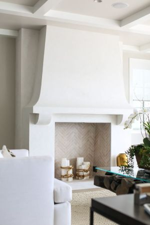 Plaster Fireplace