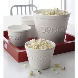 Crate & Barrel Popcorn Bowls (2 sizes)