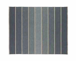 8x10 Bold Blue Striped Wool-Blend Dhurrie
