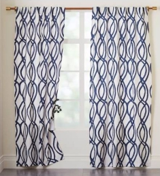 Scribble Lattice Curtains